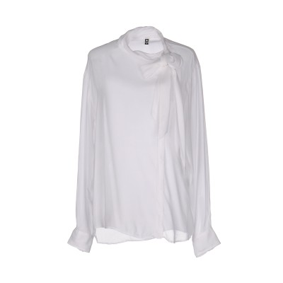 EUROPEAN CULTURE シャツ ホワイト S レーヨン 70% / シルク 30% シャツ