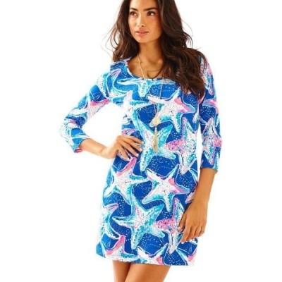 ワンピース リリーピュリッツァー WT Lilly Pulitzer BEACON DRESS T Shirt Indigo SEA STAR Struck Blue S M L XL