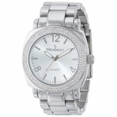 腕時計 Peugeot Femme 7075S Argent? Swarovski Cristaux Bracelet Liens Montre