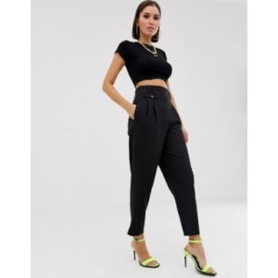 エイソス レディース カジュアルパンツ ボトムス ASOS DESIGN tailored smart high waist balloon pants Black
