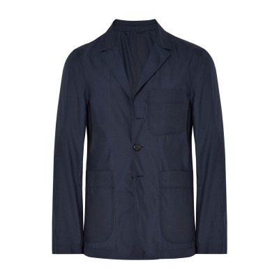 BURBERRY テーラードジャケット ダークブルー 48 シルク 72% / ウール 28% テーラードジャケット