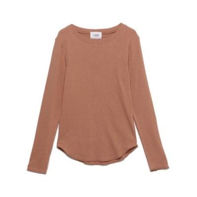 tシャツ Tシャツ 【LIEN】針抜きジャガード長袖Tシャツ