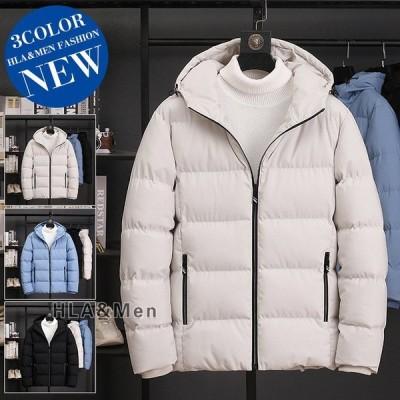 メンズ中綿ジャケット厚手ジャケット無地ジャケット中綿入り防寒着アウターフード付き