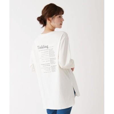 SHOO・LA・RUE / 【M-LL】綿天竺ロングTシャツ WOMEN トップス > Tシャツ/カットソー