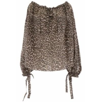 ZIMMERMANN/ジマーマン ブラウス KHAKI LEOPARD Zimmermann leopard-printed blouse レディース 秋冬2019 6234TSUR ik