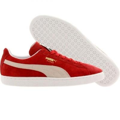 プーマ Puma メンズ スニーカー シューズ・靴 Suede Classic red/high risk red/white