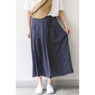 LBC アパレル(LBC)/柄切り替えスカート