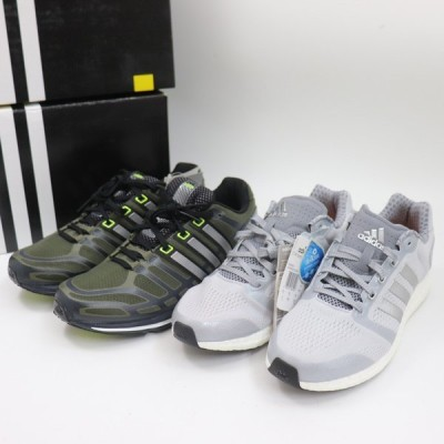 e10537 即決 本物 未使用品 adidas アディダス ランニング シューズ スニーカー スポーツ サイズ 28cm メンズ 箱付き 2足 セット