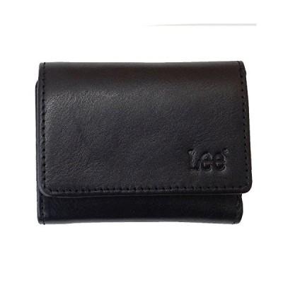 Lee( リー ) ベジタブルレザー 三つ折り財布(ボックス型 コインケース) 0520267 クロ