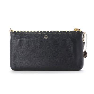 ペレボルサ PELLE BORSA 財布ショルダー (ブラック)