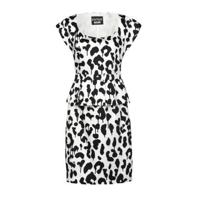 BOUTIQUE MOSCHINO ミニワンピース&ドレス ホワイト 40 コットン 96% / ポリウレタン 4% ミニワンピース&ドレス