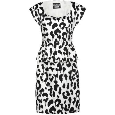 BOUTIQUE MOSCHINO ミニワンピース&ドレス ホワイト 44 コットン 96% / ポリウレタン 4% ミニワンピース&ドレス