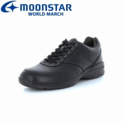送料無料 ムーンスター ワールドマーチ メンズ カジュアルウォーキングシューズ 靴 WM3016SP ブラック 高機能