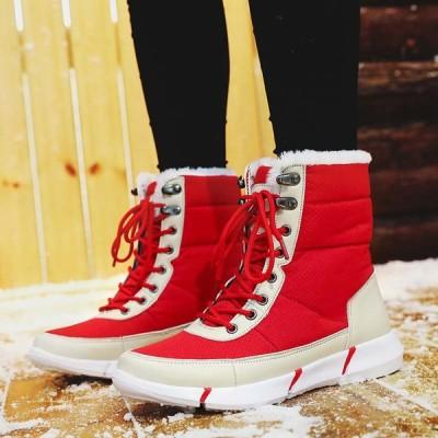 スノーブーツ レディース 防水 防寒 秋冬 あったか 快適で滑りにくいおしゃれ アウトドア 裏起毛 カジュアル雪用のブーツ  歩きやすい