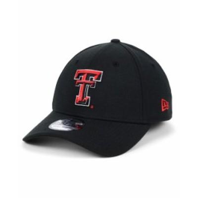 ニューエラ メンズ 帽子 アクセサリー Texas Tech Red Raiders College Classic 39THIRTY Cap Black