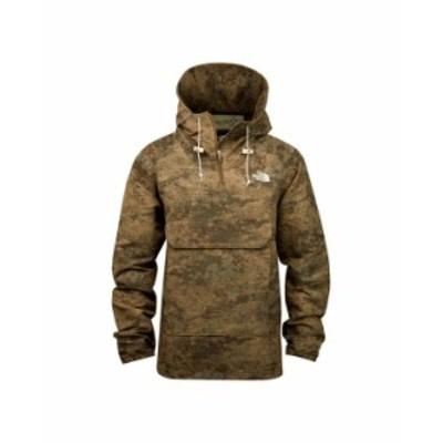 ノースフェイス メンズ ジャケット・ブルゾン アウター Men's Fanorak Jacket Miliatry Olive Cloud Camo Wash