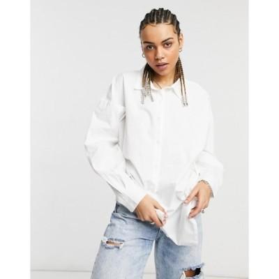 ネイティブユース レディース シャツ トップス Native Youth the perfect oversized work shirt in poplin