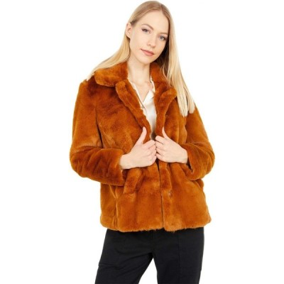 メイドウェル Madewell レディース ジャケット アウター Faux-Fur Crop Coat Golden Pecan