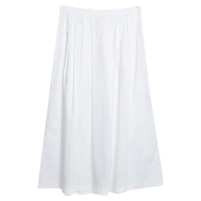 BLUKEY ロングスカート  レディースファッション  ボトムス  スカート  ロング、マキシ丈スカート ホワイト