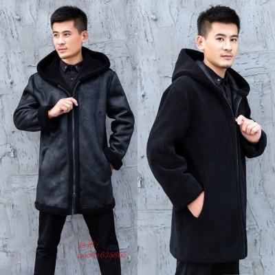ロングコート おしゃれ アウター 暖かい 冬物 防寒 フェイクファー 毛皮コート 長袖 ファーコート 人気 コート 防風 ジャケット 上着 メンズ 上質