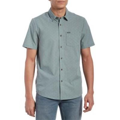 ボルコム メンズ シャツ トップス Volcom Stallcup Short-Sleeve Shirt Cool Blue