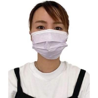 グローバル・ジャパングローバル・ジャパン 保湿 美フェイス 不織布 マスク 同色10枚入り ラベンダー A6049 1セット(60枚:10枚入×6)(直送品)