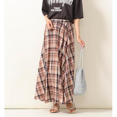【シップス/SHIPS】 SHIPS any:チェックマキシスカート