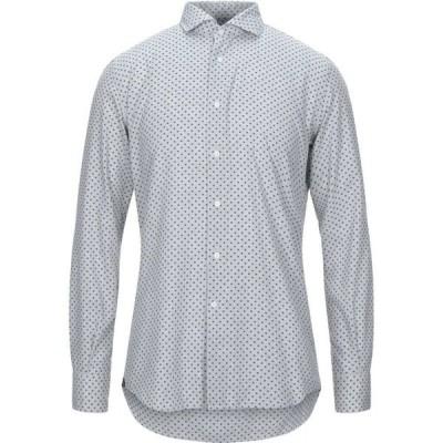 デルシエナ DEL SIENA メンズ シャツ トップス Patterned Shirt Light grey