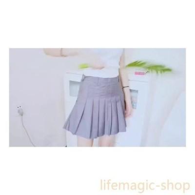 プリーツ薄いスリムスカート