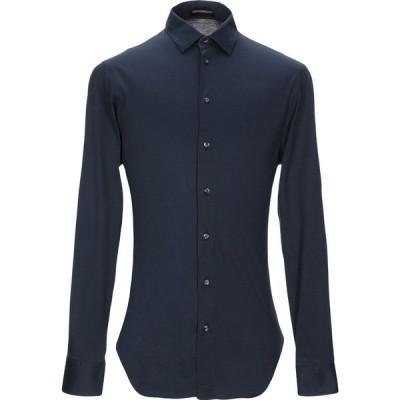 アルマーニ EMPORIO ARMANI メンズ シャツ トップス solid color shirt Dark blue