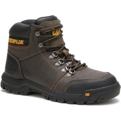 キャットフットウェア ブーツ&レインブーツ シューズ メンズ Cat Footwear Men's Outline Steel Toe Lace Up Work Boots Dark Gull Gray