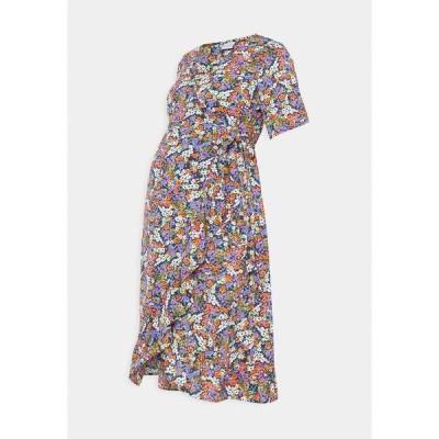ママリシャス ワンピース レディース トップス NURSING DRESS - Day dress - navy blazer/small flowers