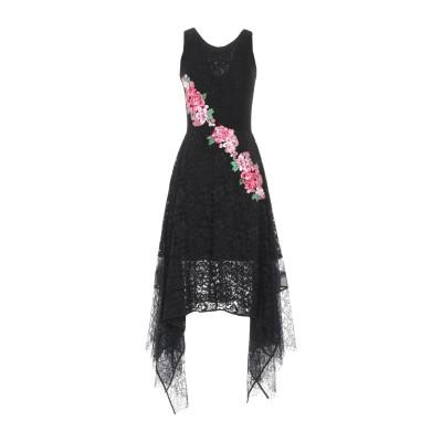 MARTA STUDIO ロングワンピース&ドレス ブラック 44 レーヨン 80% / ナイロン 20% ロングワンピース&ドレス