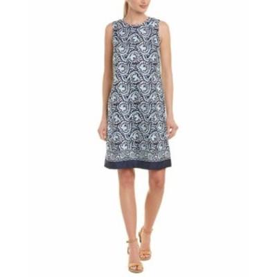 Shift  ファッション ドレス J.Mclaughlin Silk Shift Dress 6 Blue