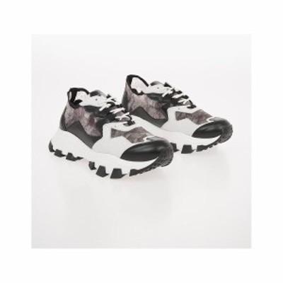 CINZIA ARAIA/チンツィア アライア Black & White メンズ Snake Printed DRAGON TRAIL Sneakers dk