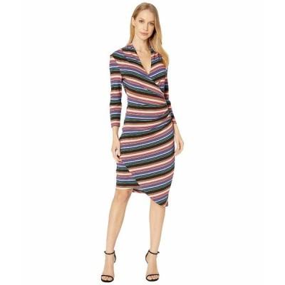 ニコルミラー ワンピース トップス レディース Downtown Stripe Jersey Long Sleeve Dress Multi