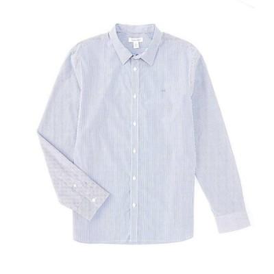 カルバンクライン メンズ シャツ トップス Extra Fine Stripe Long-Sleeve Woven Shirt