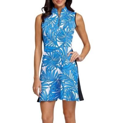 テイル ワンピース トップス レディース Tail Women's Sleeveless Flounce Golf Dress Night Jungle Palm