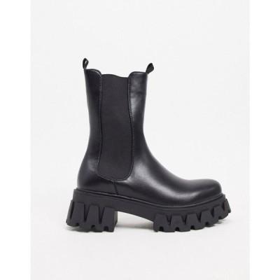 コイフットウェア Koi Footwear レディース ブーツ シューズ・靴 Sentry vegan chunky boots in black ブラック