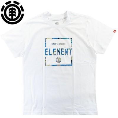 エレメント element Tシャツ 半袖 メンズ S/S 定番ロゴ スクエアロゴ Tシャツ 綿100% スケートボード BA021226