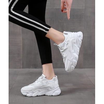 Shoes in Closet -シュークロ- / 厚底 ボリュームソール ダットスニーカー《約6.5㎝ソール》07 WOMEN シューズ > スニーカー