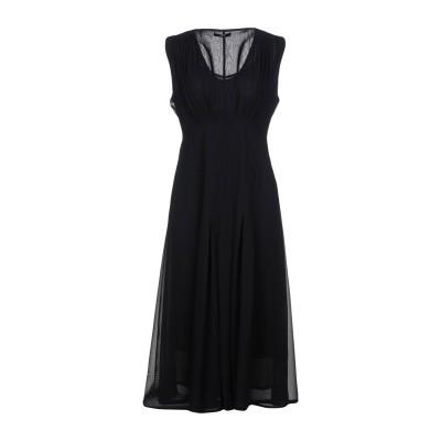 SEVENTY SERGIO TEGON 7分丈ワンピース・ドレス ブラック 44 ポリエステル 100% 7分丈ワンピース・ドレス