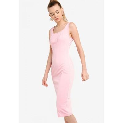 サムシングボロウド Something Borrowed レディース ボディコンドレス ワンピース・ドレス Back Cut Out Bodycon Dress With Piping Pink
