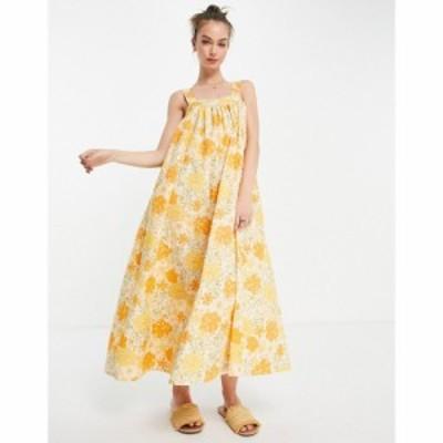 エイソス ASOS DESIGN レディース ワンピース ワンピース・ドレス trapeze maxi dress in 70s floral print