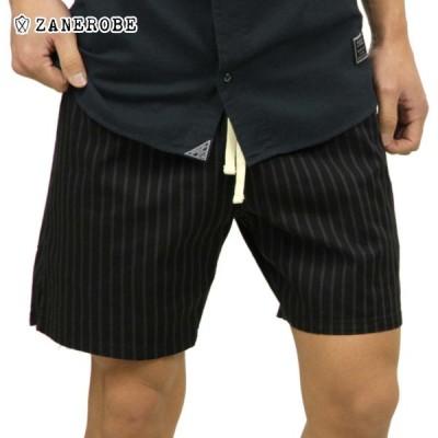 ゼンローブ ZANEROBE 正規販売店 メンズ チノ ショートパンツ PINSTRIPE ZEPHYR CHINO SHORT PANTS BLACK/VINTAGE BLACK 603-VER