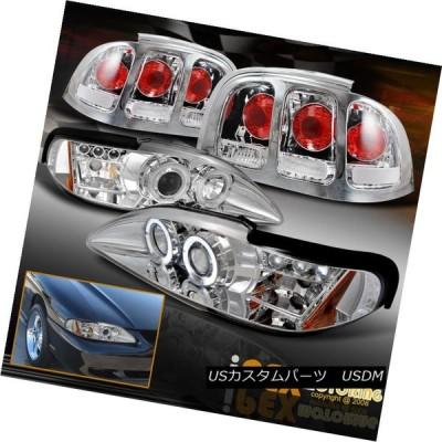 テールライト VALUE COMBO 1996-1998 Ford Mustang Halo LEDプロジェクターヘッドライト+テールランプ VALU