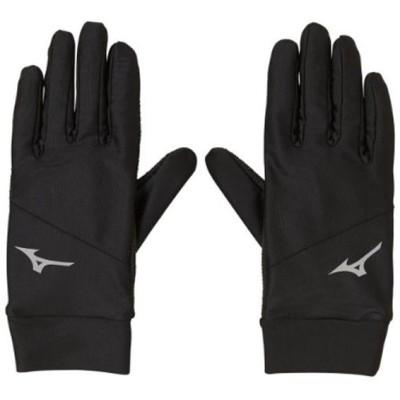 MIZUNO ミズノ ベーシックグローブ(ユニセックス) スポーツ手袋 P2JY9505-90(ブラック×シルバー) 2019年秋冬