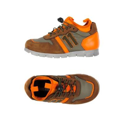 ビッケンバーグ BIKKEMBERGS スニーカー&テニスシューズ(ローカット) オレンジ 28 革 / 紡績繊維 スニーカー&テニスシューズ(ロー