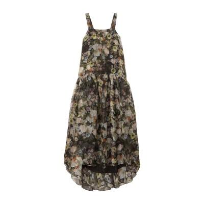ADAM LIPPES ロングワンピース&ドレス ブラック 2 シルク 100% ロングワンピース&ドレス