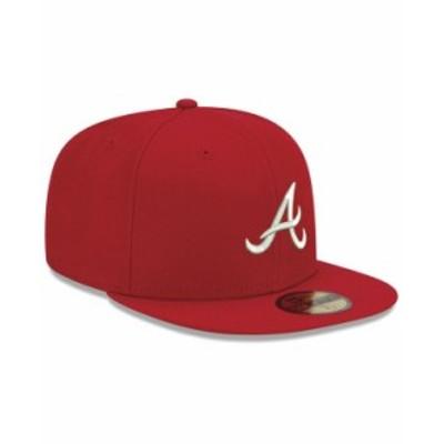 ニューエラ メンズ 帽子 アクセサリー Atlanta Braves Re-Dub 59FIFTY Fitted Cap Red/White